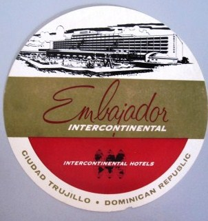Embajador Inter-Continental Hotel Luggage Label, Neal Prince