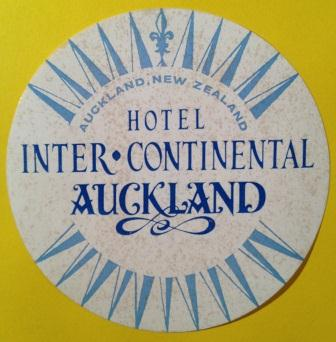 Inter-Continental Auckland Hotel Luggage Label, New Zealand